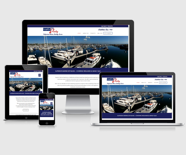 Website design for Superior Marine Detailing